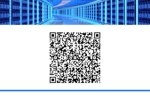 Achterkant visitekaartje: QR-code.